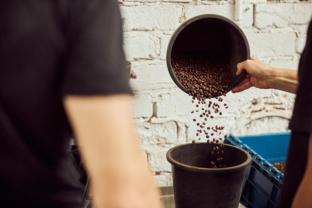 palenie kawy w ziarnach